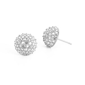 Nam Cho Ice Diamond Stud Earrings