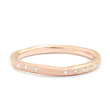 Anne Sportun 14k Rose Gold Wavy Stardust Band