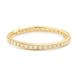 Anne Sportun Single Row Diamond Wonky Band 18k yellow gold