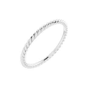 14k White Gold Rope Band
