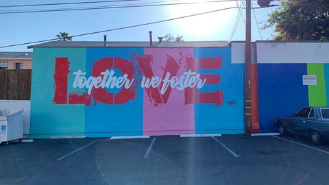 "Finished Mural ""Together We Foster Love"" by Ruben Rojas"