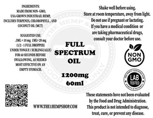 1200 Full Spectrum Oil