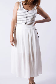 Falda midi blanca Dress Division entera