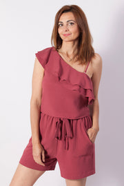 Top asimétrico color rosa Dress Division