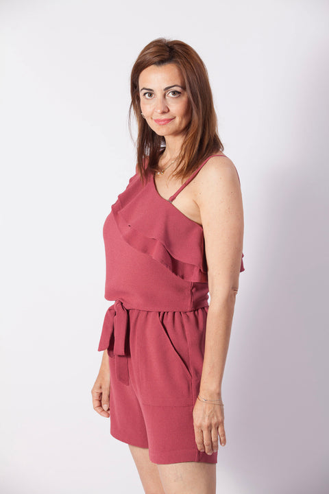 short color rosa Dress Division lateral