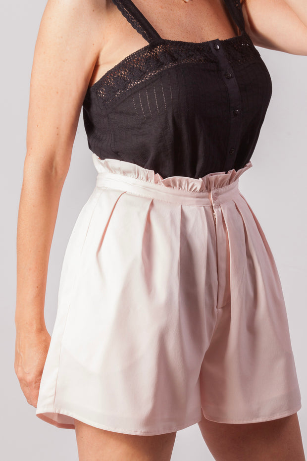 Short de mujer color rosa claro Dress Division lateral