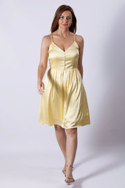 Vestido amarillo de tirantes Dress Division entera