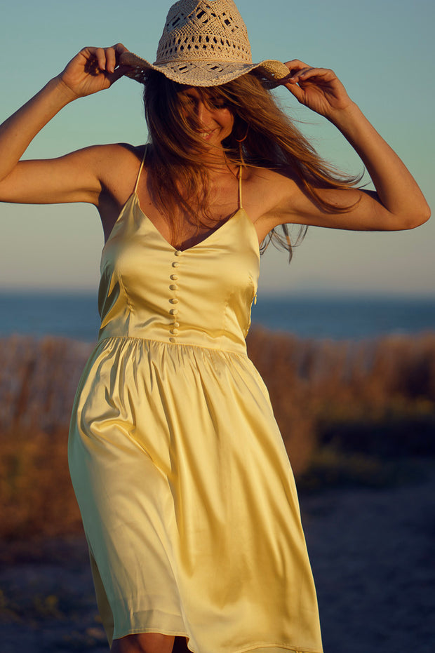 Vestido corto amarillo Dress Division cerca