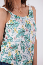 Top tirantes de mujer con estampado tropical Dress Division derecha