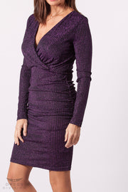 Vestido fiesta morado dress division frontal