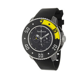 Black/Yellow Quartz Tendence Men's Watch - Pisis Empire