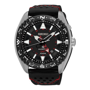 Black/Red Seiko Men's Watch - Pisis Empire