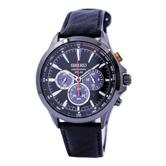 Seiko- Solar Chronograph Men's Watch 44mm