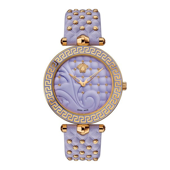 Versace Women's Vanitas Leather Lilac Dial