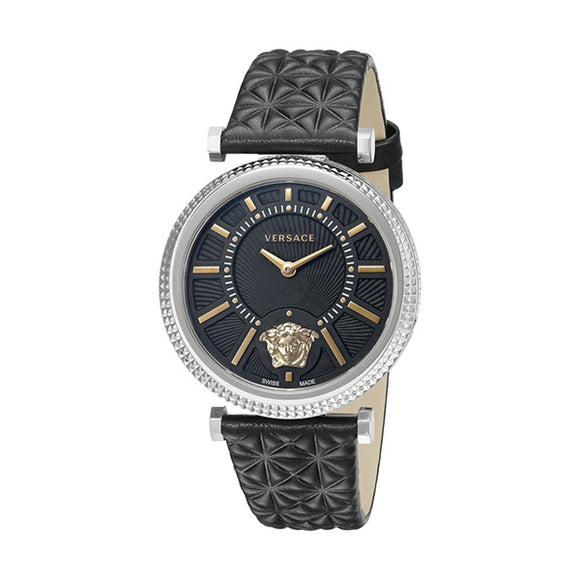 Black/Gold Versace Ladies' Watch(38 mm) - Pisis Empire