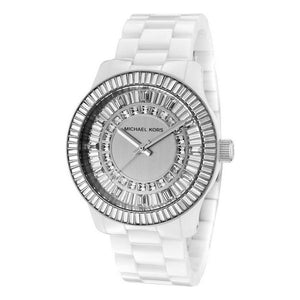 Michael Kors- White/Silver Ladies Runway Watch
