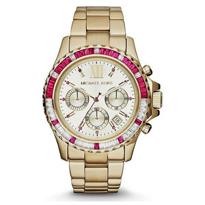 Michael Kors -Gold Tone Glitz Everest Watch 45mm