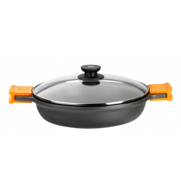 Casserole with glass lid BRA A270540 (40 cm) Aluminium