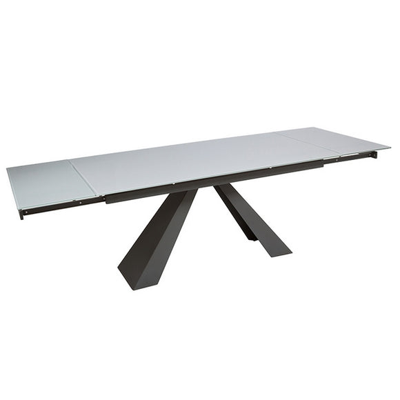 Expandable table Tempered glass (160 x 90 x 76 cm) by Craftenwood
