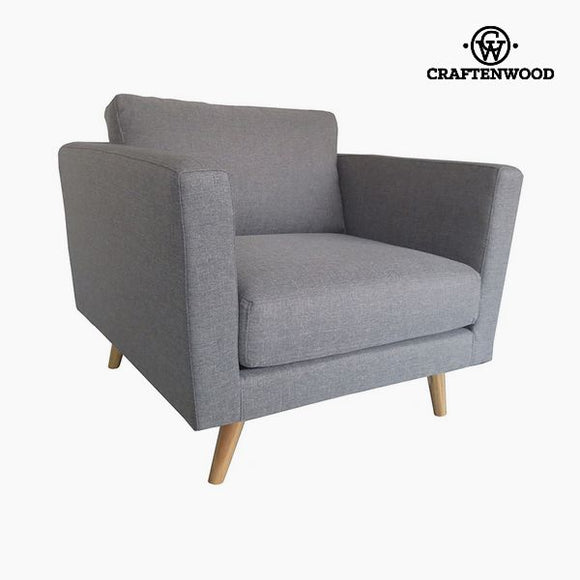Armchair Velvet Grey (90 x 88 x 83 cm) by Craftenwood
