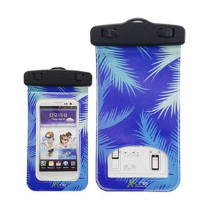 "Exotic Blue Waterproof Smartphone Case (up to 5.5"")"