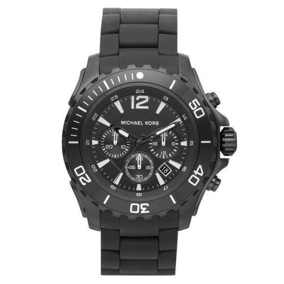 Michael Kors - Men's Black Plated Watch 47m