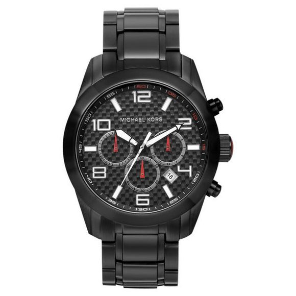 Black Michael Kors Unisex Watch (44 mm) - Pisis Empire