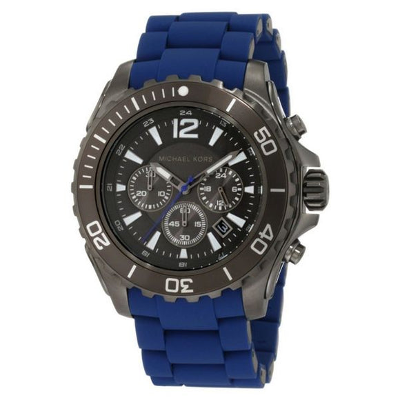 Black/Blue Michael Kors Men's Watch (47 mm) - Pisis Empire