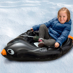 Snow Boogie Arctic Penguin Inflatable Sled