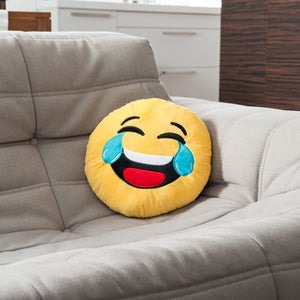 Crying Laughing Emoji Cushion