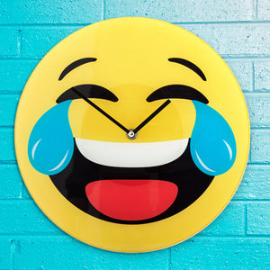 Crying Laughing Emoji Wall Clock