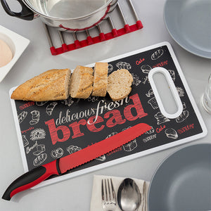 Bread Chopping Board and Knife