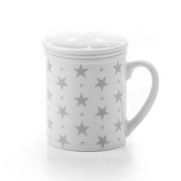 Mug with Lid and Strainer