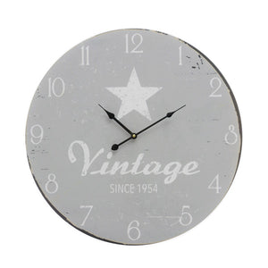 Vintage Coconut XL Star Wall Clock