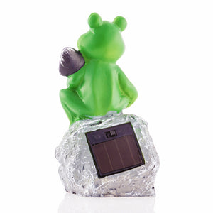 Oh My Home Decorative Solar Frog
