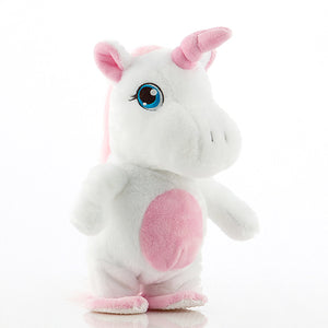 Plush Walking Unicorn with Voice Recorder