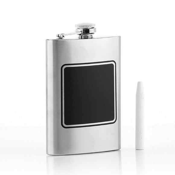 Th3 Party Metallic Hip Flask with Chalk
