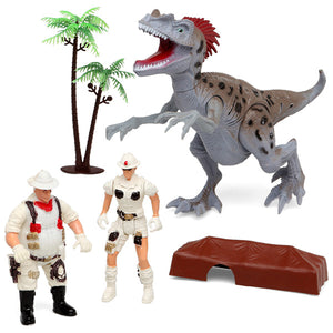 Action Figure Expedition Game with Dinosaur - Pisis Empire