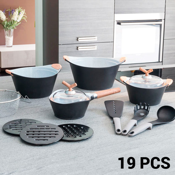 Black Premium 3502 Cookware Set (19 pieces)