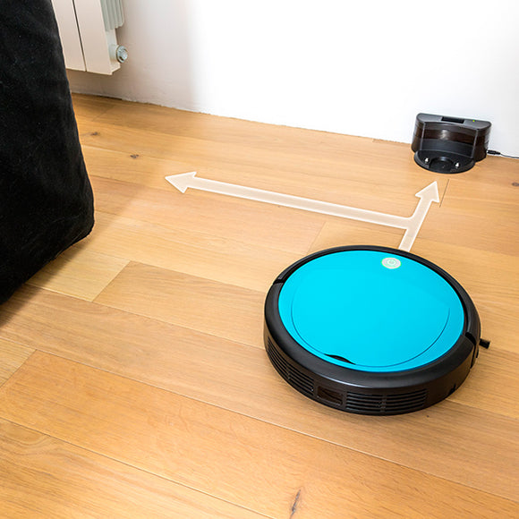 Cecoclean Slim Wet 5046 Vacuum Robot with Mop and Water Tank 0.3 L 19 V Blue Black