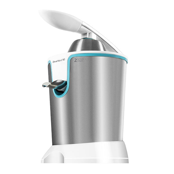 Cecomix Adjust White 4076 160W Steel Electric Juicer with Handle
