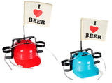I Love Beer Helmet with Drink Holders