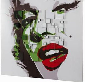 Lady 3D Wood Canvas Painting