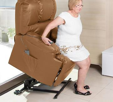 Camel Armchair With Massager