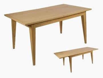 Mindi Wood Expandable Dining Table