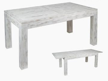 White Mindi Wood Expandable Table