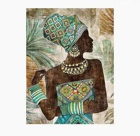 Beautiful African Lady Oil Painting