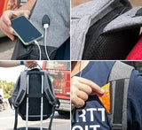 Anti-Theft+Charger Backpack