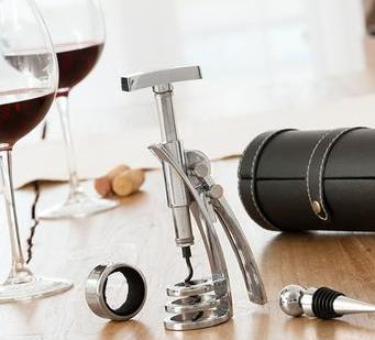 4 Pcs Set of Wine Accessories with Corkscrew - Pisis Empire