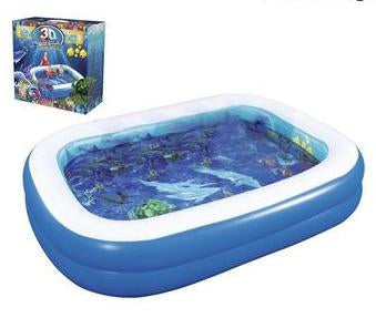 Vinyl Blue Inflatable Swimming Pool